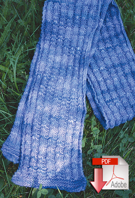 Knitting Patterns By Yarn Weight : Malabrigo Mock Cable Scarf Pattern - Medium Weight Yarn - Pattern download, K...