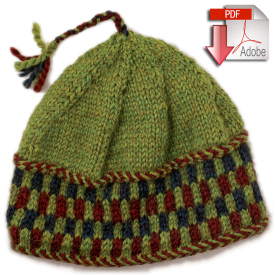 Checkerboard Hat - Bulky Weight - Pattern download, Knitting Pattern - Halcyo...