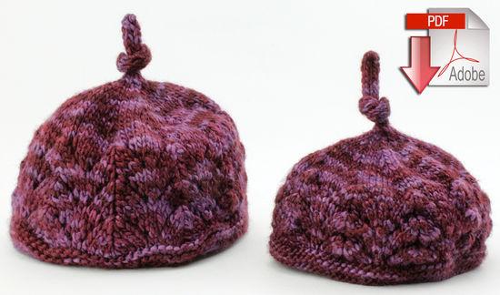 Knitting Patterns Luxury Lace Noggin Topper - DK/Light Weight - Pattern download