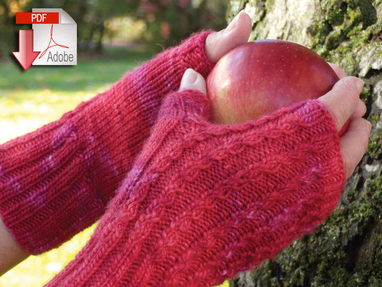 Knitting Patterns Endless Ruby Mitts - DK/Light Weight - Pattern download