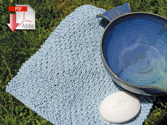 Textured Cotton Washcloth - Casco Bay Worsted - Pattern download, Knitting Pa...