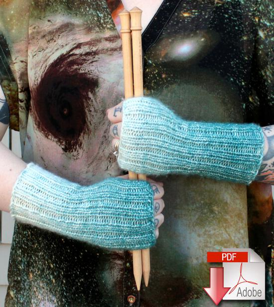 Knitting Patterns Eight Days A Week Fingerless Mitts - Free Pattern Download