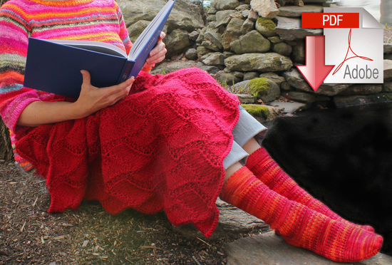 Knitting Patterns Peruby Waves Throw - Bulky Weight - Pattern download