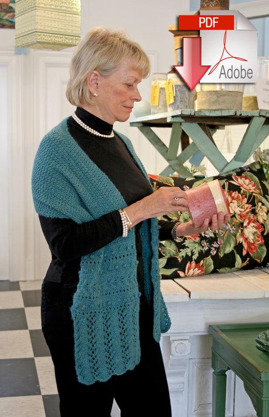 Knitting Patterns Gillies Alpaca Wrap - Medium Weight - Pattern download