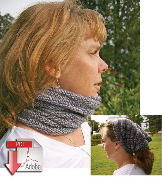 Knitting Patterns Reversible Cowl - Medium/Bulky  - Pattern download