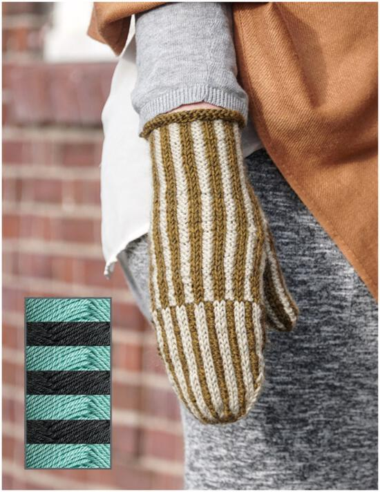 Knitting Kits Corrugated Mitts Kit - Cottage
