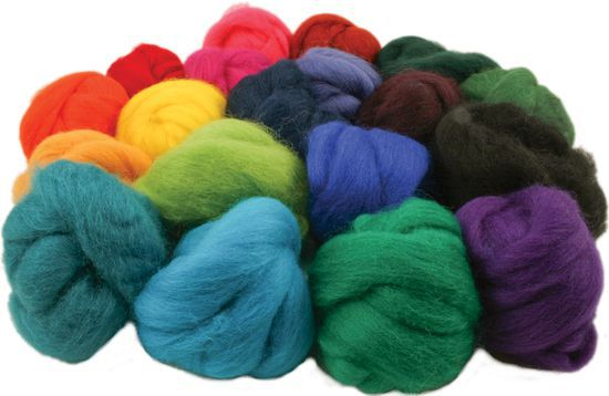 Multi-Craft Kits Ashford Spinning Fiber Bag - Great Felting Fiber Too!