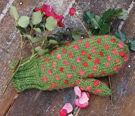 Knitting Patterns Snuggly Stuffed Mitten Knitting Pattern