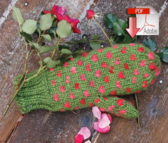 Knitting Patterns Snuggly Stuffed Mitten - Pattern download