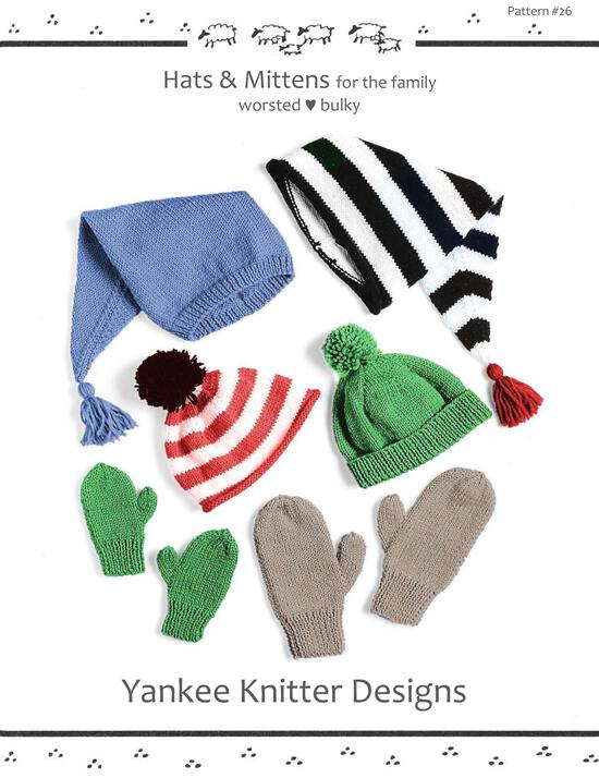 Knitting Patterns Hats and Mittens - Yankee Knitter
