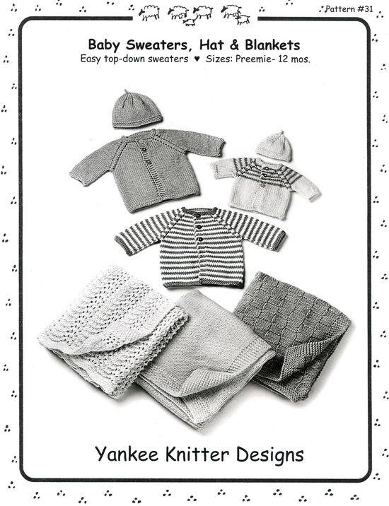Knitting Patterns Baby Sweaters, Hats and Blankets - Yankee Knitter