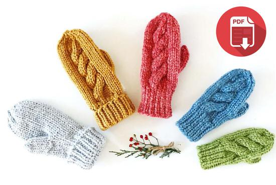 Knitting Patterns Piper Mittens - Yankee Knitter - download
