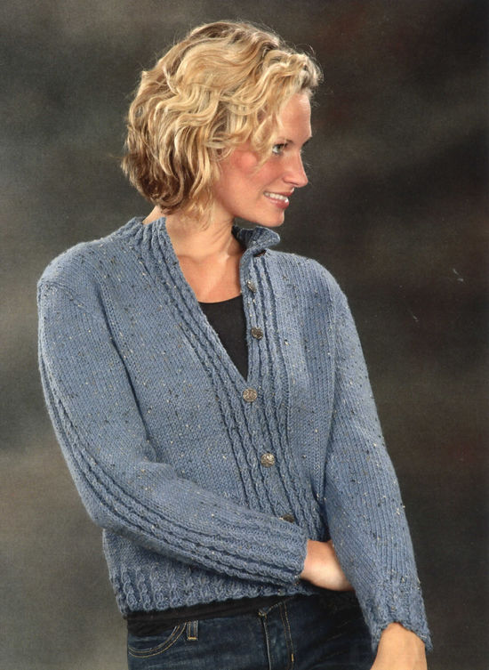 Knitting Patterns Mock Cable Cardigan