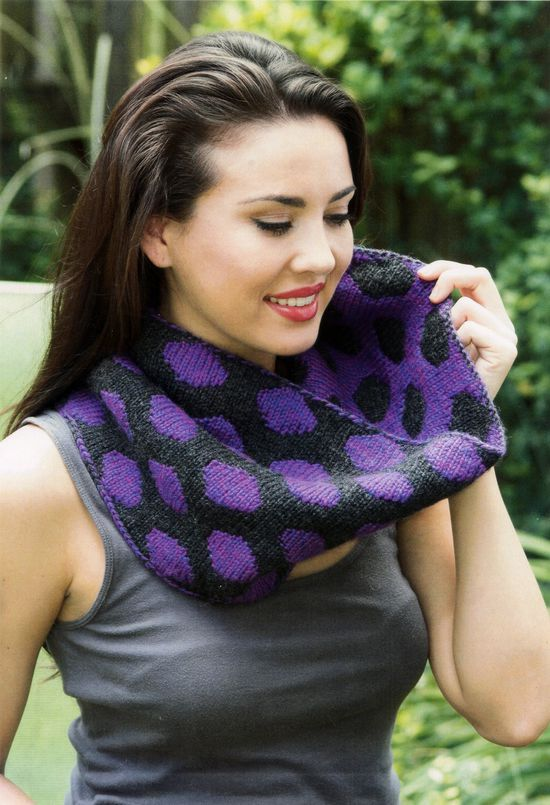 Knitting Patterns CLEARANCE Double Knit Polka Dot Cowl