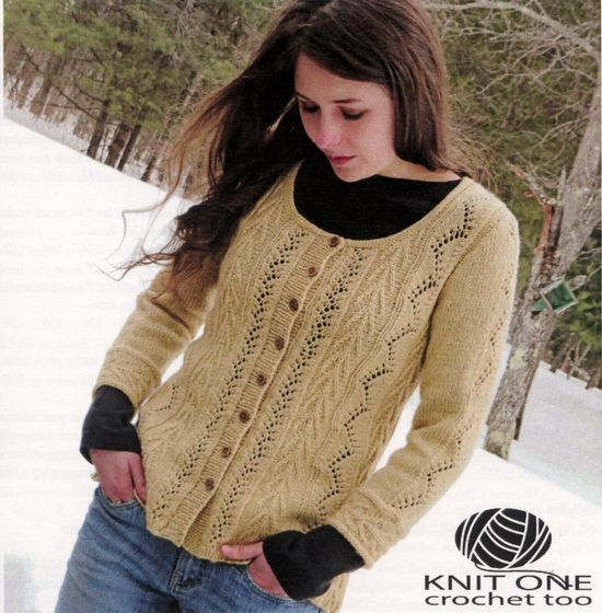 Knitting Patterns Vine and Arrows Cardi