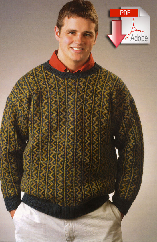 Knitting Patterns Highland Storm Pullover - Pattern download Harrisville Designs