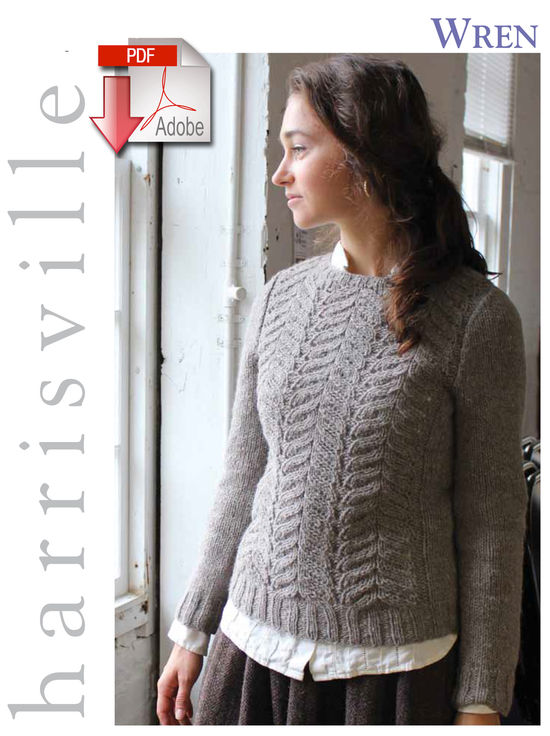 Knitting Patterns Wren Pullover - Pattern download Harrisville Designs