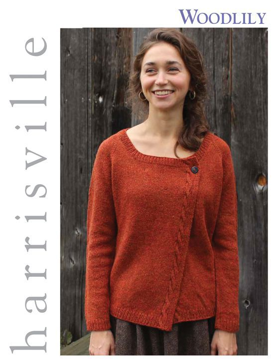Knitting Patterns Woodlily Cardigan Harrisville Designs