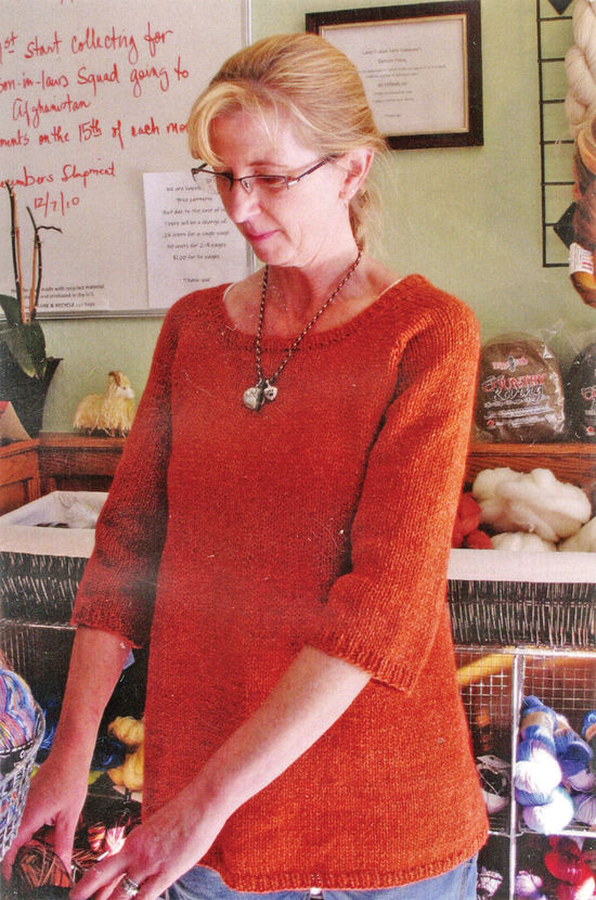 Knitting Patterns Top Down Swing Pullover by Knitting Pure and Simple