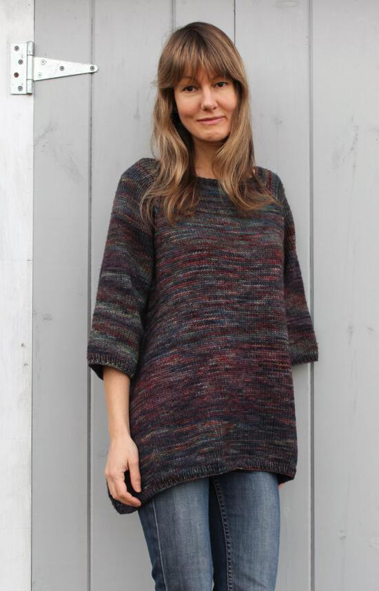 Knitting Patterns Top Down Trapeze Pullover by Pure and Simple