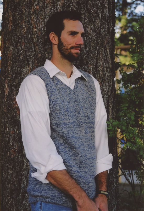Knitting Patterns Men's Vest by Knitting Pure and Simple