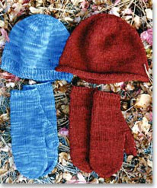 Knitting Patterns Basic Hat and Mitten Set for Women by Knitting Pure and Simple
