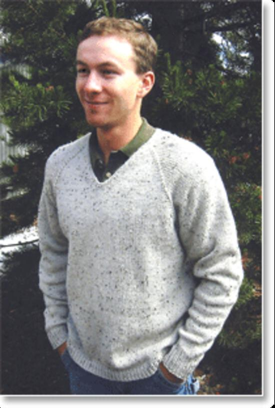 Knitting Patterns Neck Down V Neck Pullover for Men by Knitting Pure and Simple