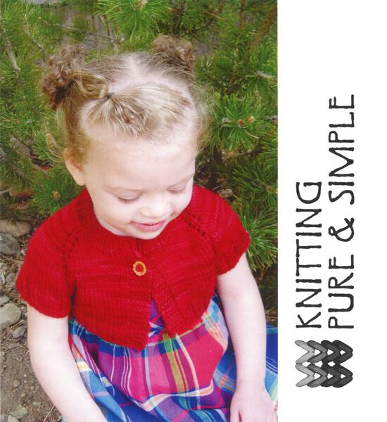 Knitting Patterns Little Girlaposs Shrug by Knitting Pure and Simple