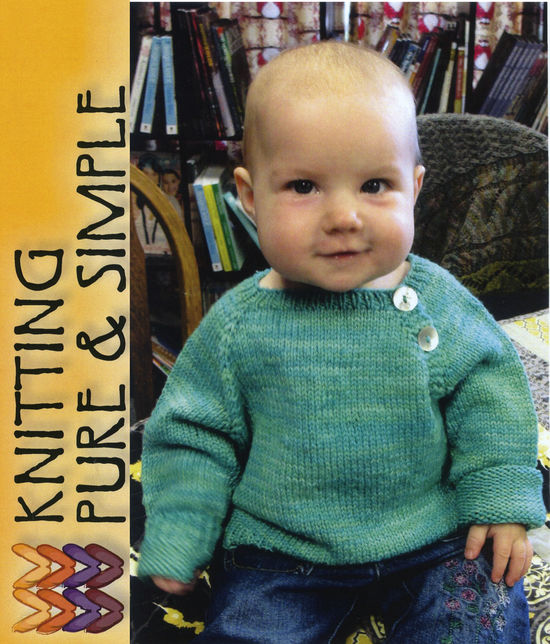 Knitting Patterns Button Front Baby Pullover by Pure and Simple