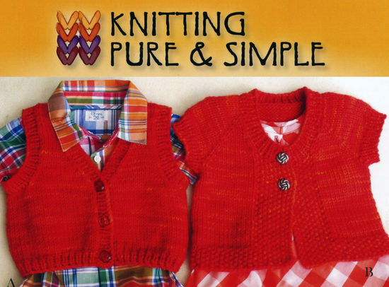 Knitting Patterns Baby Vests by Pure and Simple