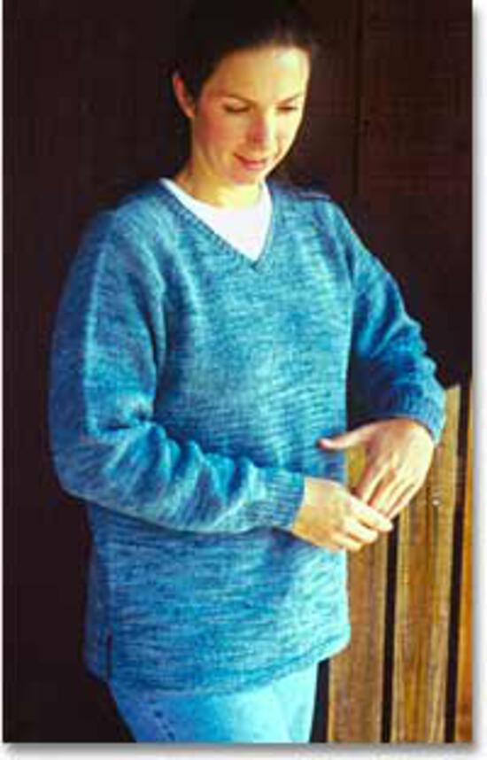 Knitting Patterns Neck Down Pullover Tunic  - Knitting Pure and Simple