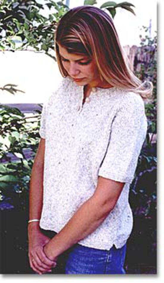 Knitting Patterns Henley T-shirt by Knitting Pure and Simple