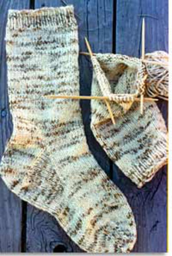 Knitting Patterns Men's Heavy Weight Boot Sock by Knitting Pure and Simple