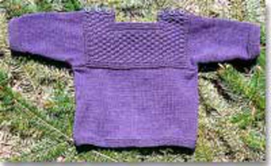 Knitting Patterns Fisherman T-Shirt Pullover Sweater for Baby