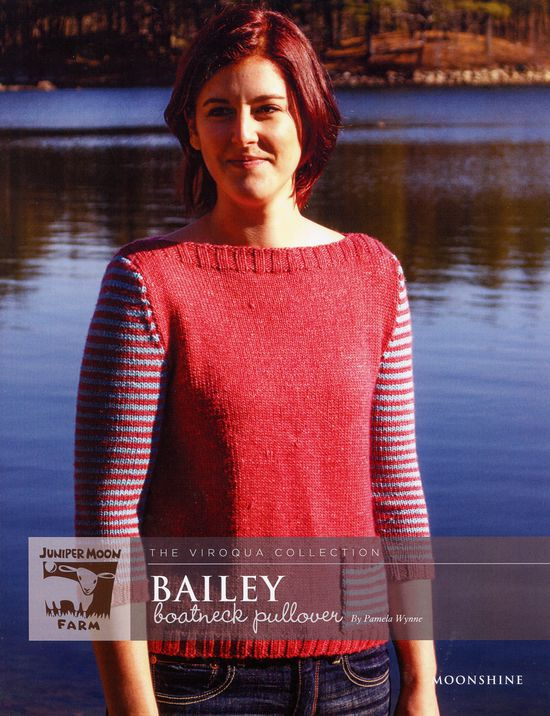 Knitting Patterns Bailey Boatneck Pullover