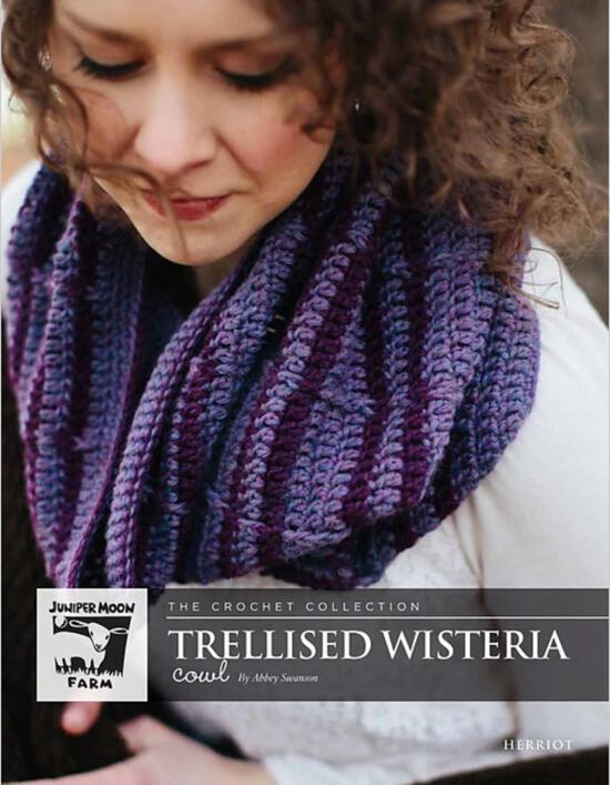 Crochet Patterns Herriot Trellised Wisteria Crochet Cowl