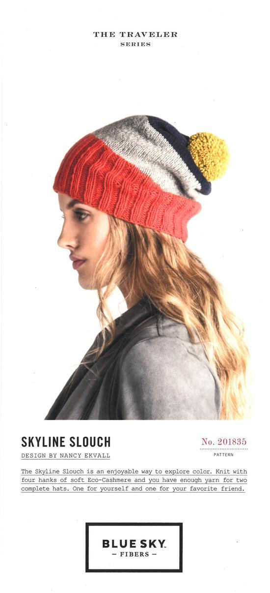 Knitting patterns Skyline Slouch Hat