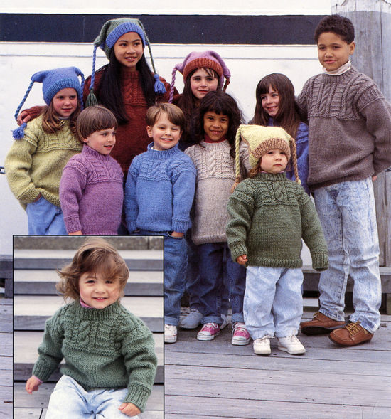 Knitting Patterns Colorful Kids Number 402