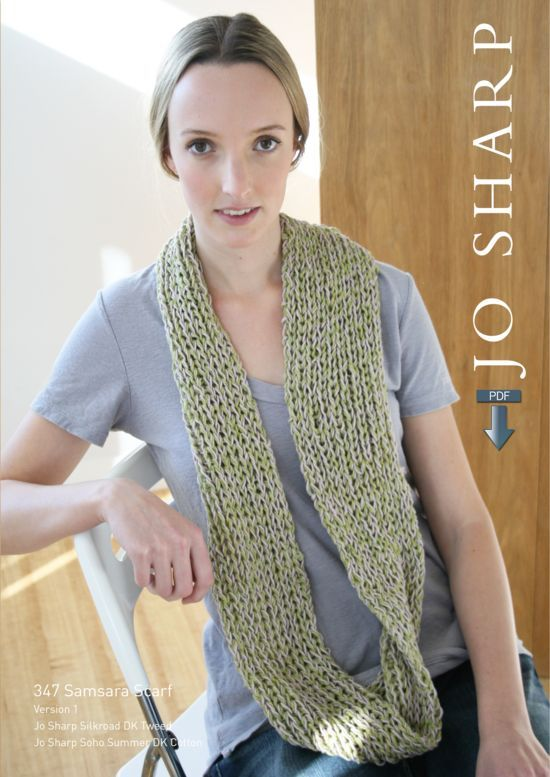 Knitting Patterns Jo Sharp Samsara Scarf Pattern - Pattern Download