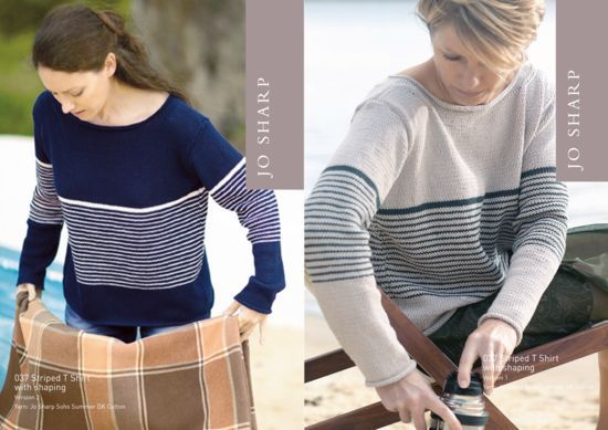 Knitting Patterns Jo Sharp Striped TShirt Pattern  Pattern Download
