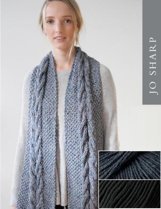 Knitting Kits Jo Sharp Audrey May Scarf Kit - Pebble
