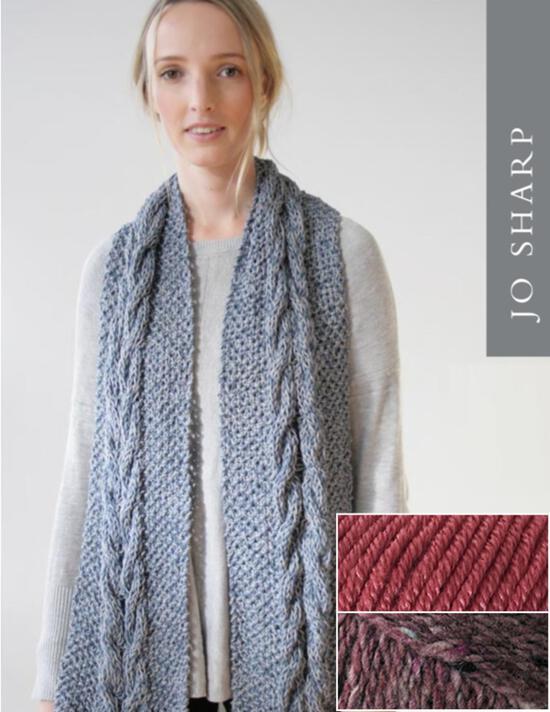 Knitting Kits Jo Sharp Audrey May Scarf Kit - Paper Rose