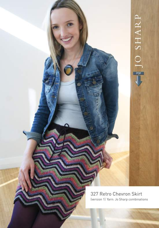 Crochet Patterns Jo Sharp Retro Chevron Skirt Pattern - Pattern Download