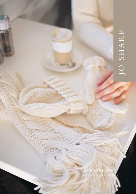 Knitting Patterns Jo Sharp Biscotti Set: Scarves, Hat, and Mittens Pattern
