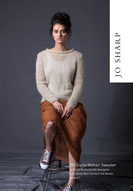 Knitting Patterns Jo Sharp Carla Mohair Sweater - Pattern