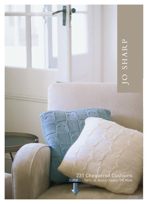 Knitting Patterns Jo Sharp Cotton Socks and Chequered Cushions - Pattern Download