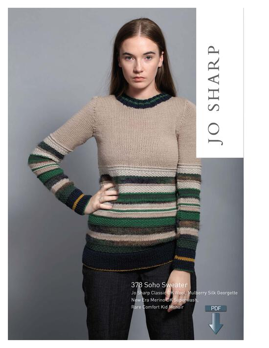 Knitting Patterns Jo Sharp Soho Sweater - Pattern Download