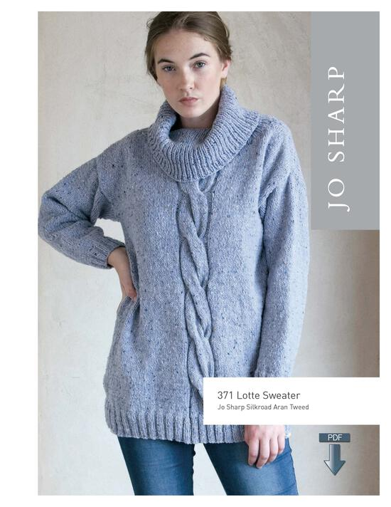 Knitting Patterns Jo Sharp Lotte Sweater - Pattern Download
