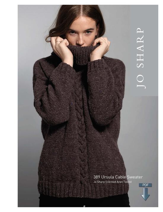 Knitting Patterns Jo Sharp Ursula Cable Sweater - Pattern Download