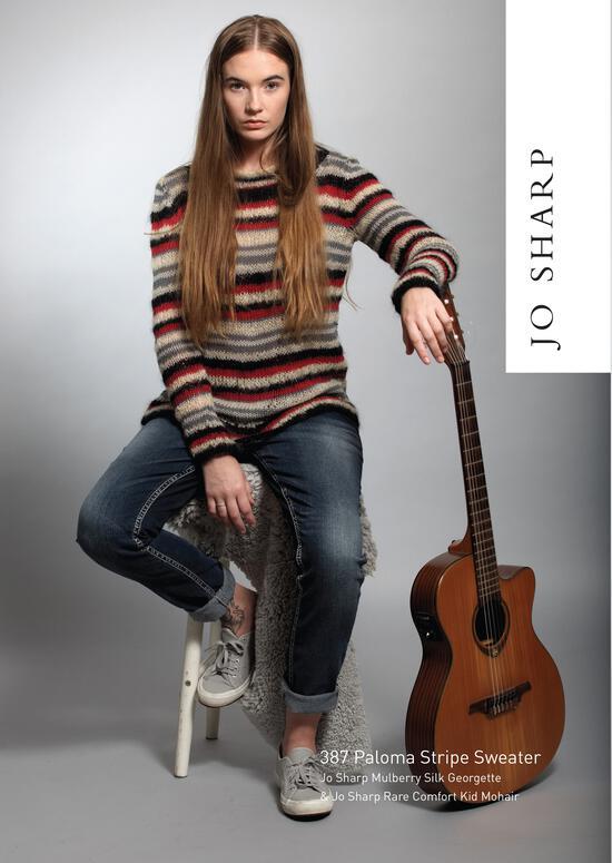 Knitting Patterns Jo Sharp Paloma Stripe Sweater - Pattern
